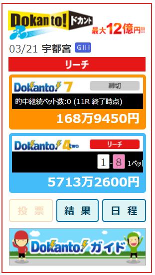 ドカント4キャリオーバー5700万円
