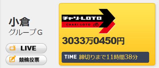 チャリロトキャリオーバー3033万円