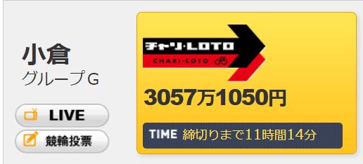 チャリロト3057万円